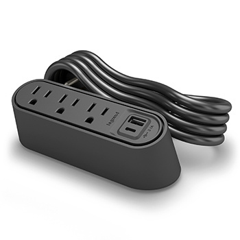 Desktop Power Center Slim Angled with Cord