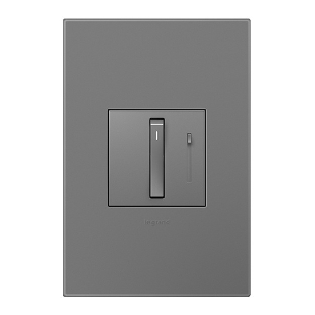 magnesium adorne dimmer and wall plate
