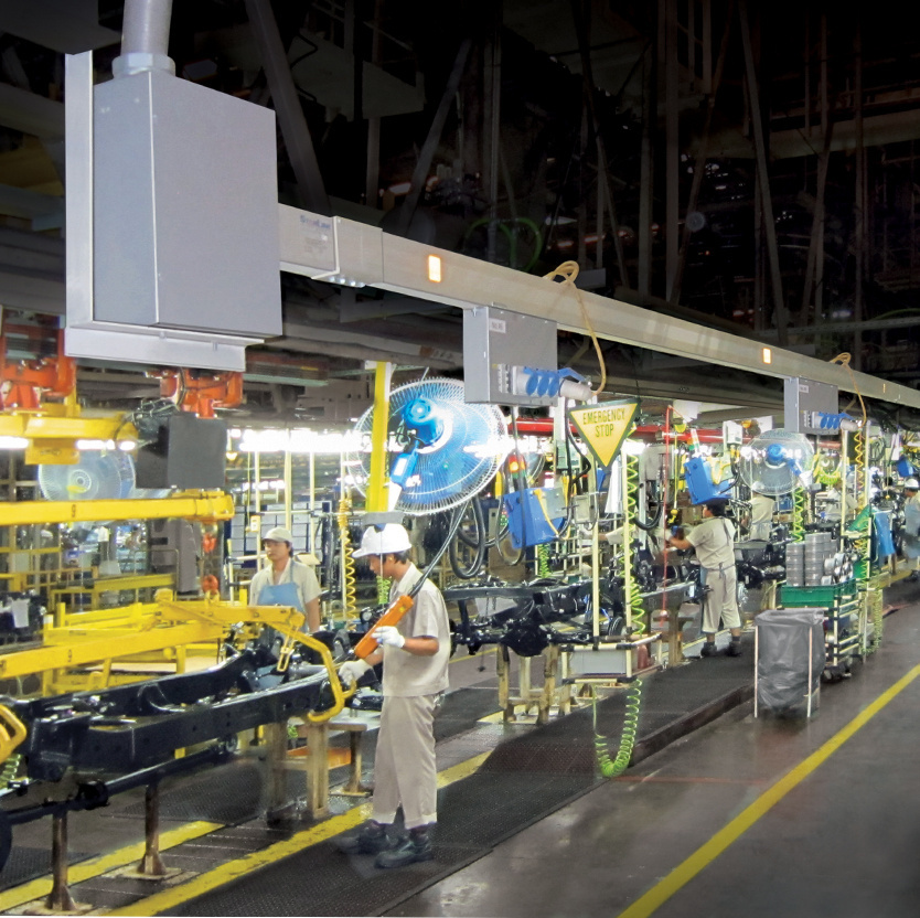 Desktop image of Starline industrial products on automotive factory floor
