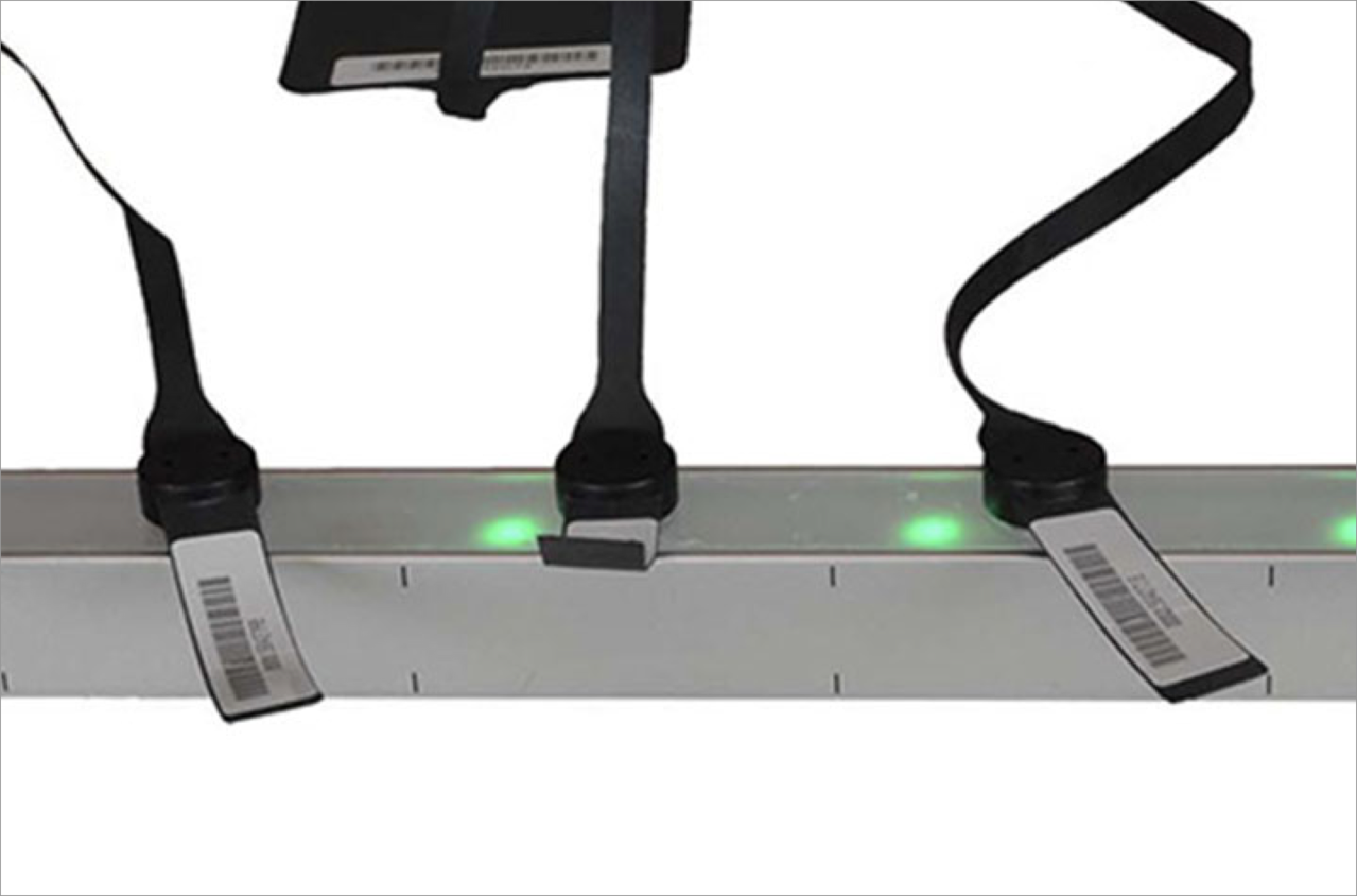 Image of multi-colored leds for asset management