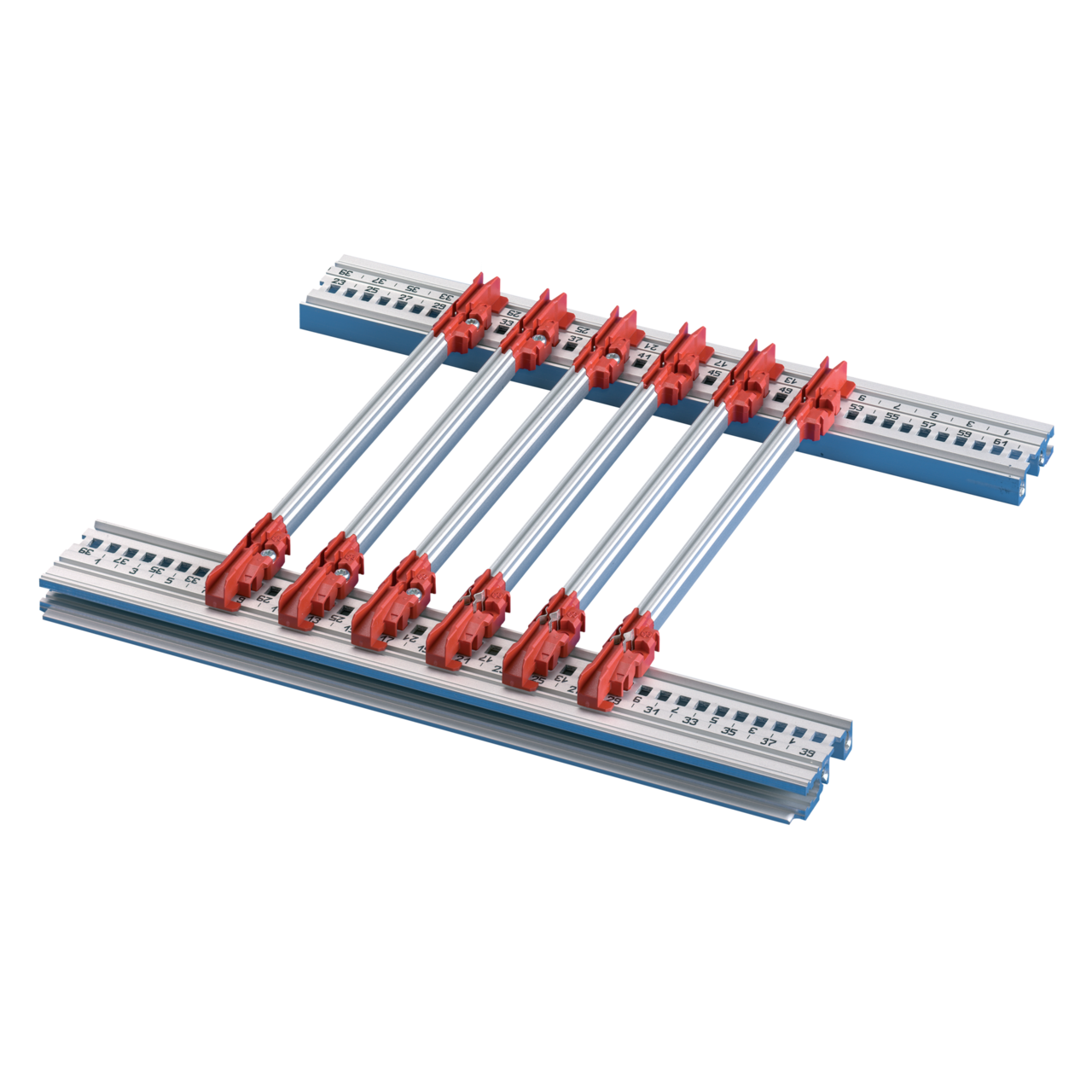 Image for Guide rails, multi-piece, for plug-in units and frame type plug- from Schroff - North America