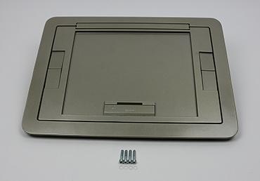 Nickel, Tamper Resistant Flush Style Cover w/Carpet Insert, EFB610CTNKTR. \u2039 \u203a Evolution Series EFB6, EFB8, EFT10 Floor Box with
