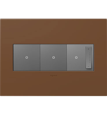 adorne 3-Gang Cappuccino Wall Plate