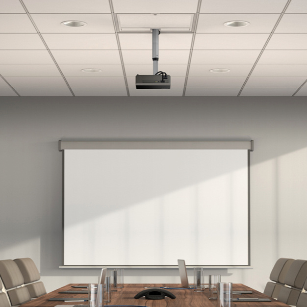 Meeting room with projector installed with Evolution Ceiling Box