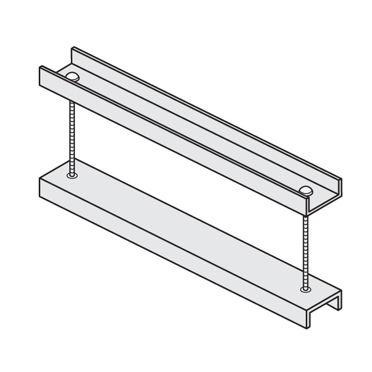 Cable Channel Tray Metallic Cover Clamp