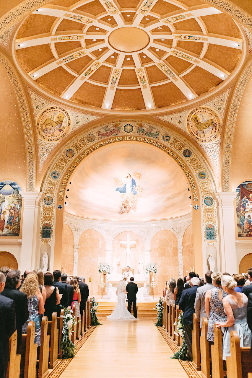 Kendall and William exchanged traditional Catholic vows presented by Monsigner Valentine Handwerker on July 9, 2016 at the Cathedral of the Immaculate Conception in the presence of nearly 400 family and friends.