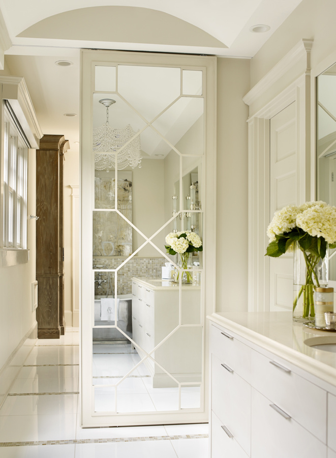 This ansley park master bath is amazing for Master bathroom door