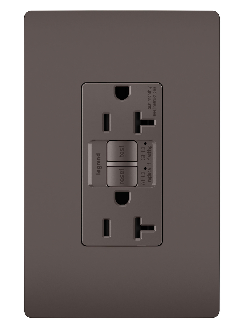 radiant® Dual Function Tamper-Resistant AFCI/GFCI Receptacle, Brown ...