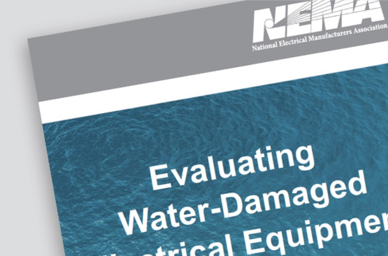 Page with text: Evaluating Water-Damaged Electrical Equipment