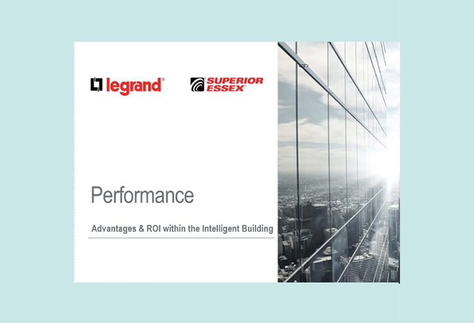 first slide of the Performance presentation with Legrand and Superior Essex logo