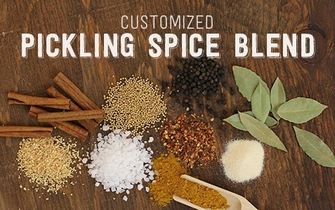 Customized pickling spice blend