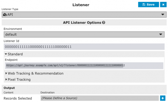 Create an API listener