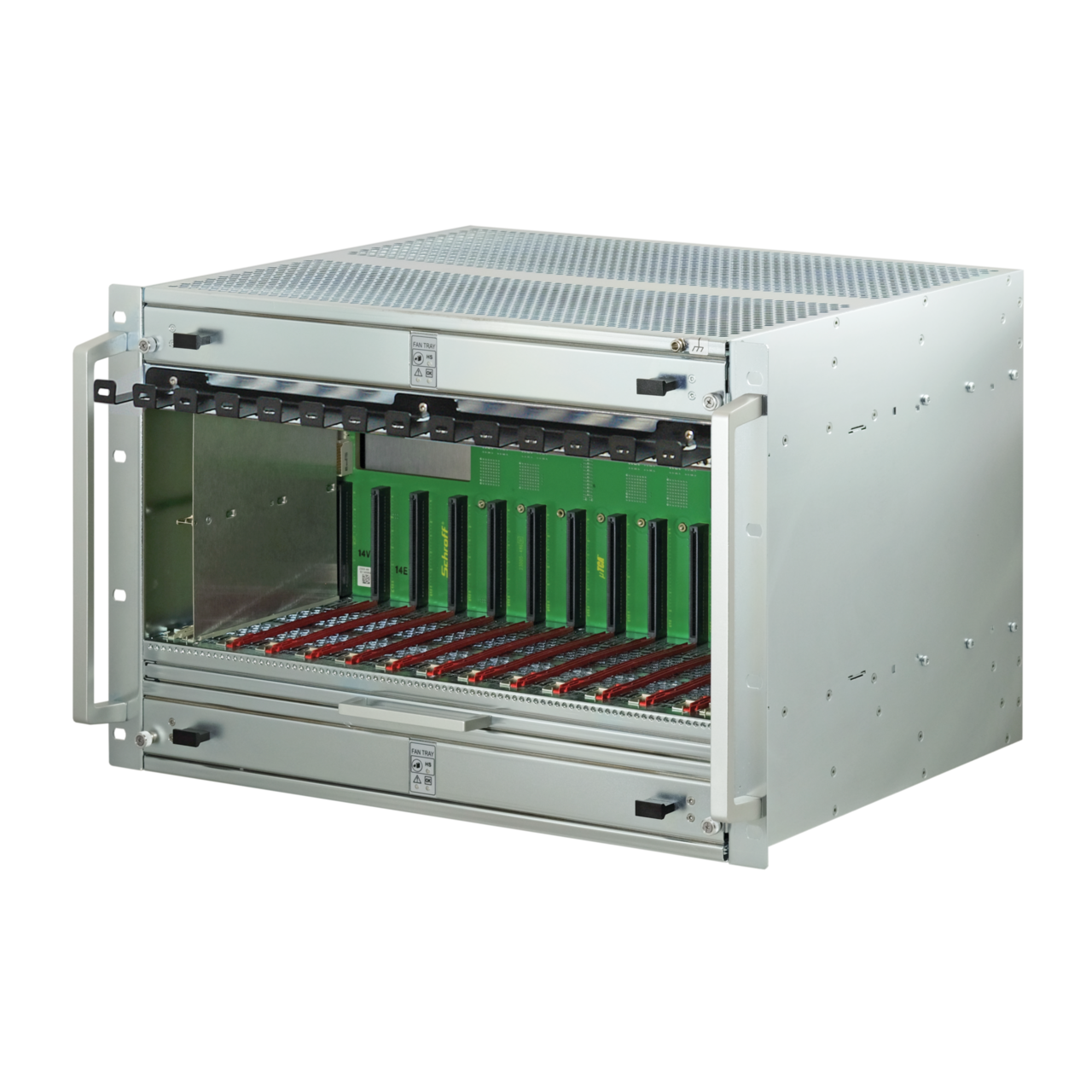 Imagen para MicroTCA.4 system, 7 / 9 U, 84 HP, for 12 double full-size AdvancedMC modules de Schroff - Norteamérica