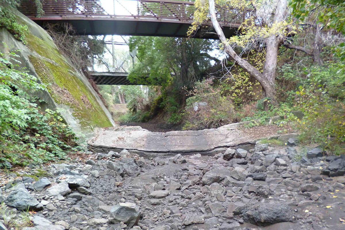 Bonde Weir without flow