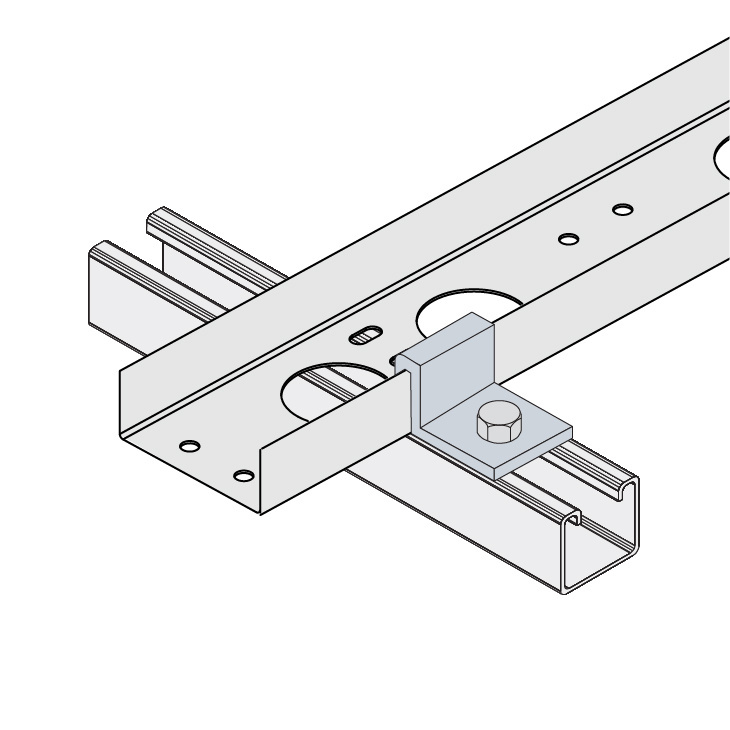 Cable Channel Tray Metallic Hold-Down Clamp