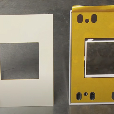 front and back view of adorne Collection by Legrand designer wall plates
