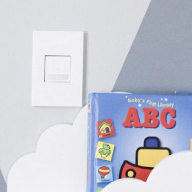 adorne motion sensor next to children's book