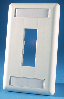TracJack Faceplate, two-port (single gang), plastic, OR-40300548