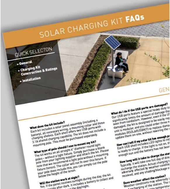 Mobile image of Solar Charging Kit FAQs