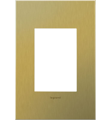 adorne 1-Gang+ Brushed Brass Wall Plate