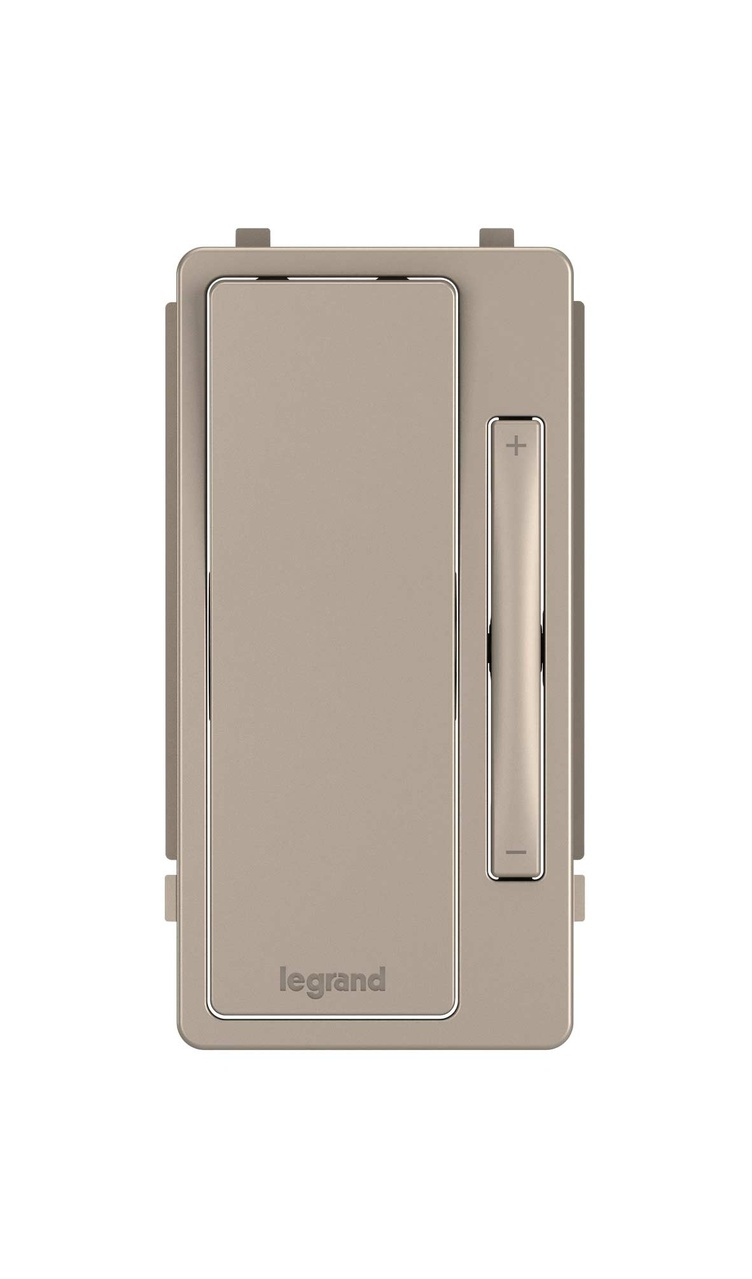 Interchangeable Face Cover for radiant Multi-Location Remote Dimmer, Nickel