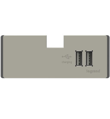 adoren Under Cabinet USB Outlet Module