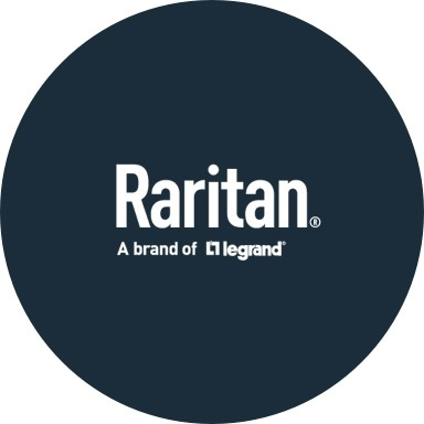 Raritan logo with navy blue background