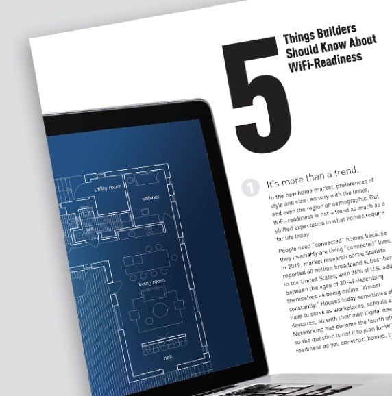 cover of Legrand's 5 Things Builders Should Know About WiFi-Readiness resource