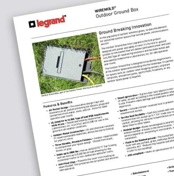 Outdoor Ground Box - Cut Sheet