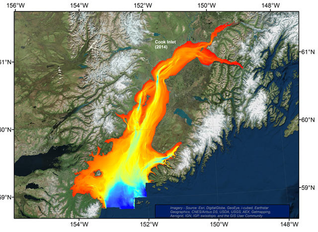 Bathymetry of Cook Inlet
