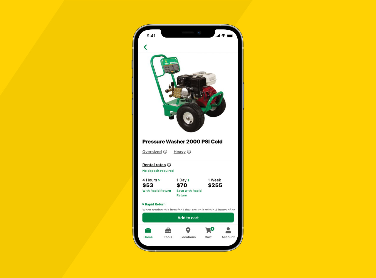 Browse Equipment on App