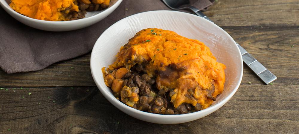 Sweet Potato Vegetarian Shephard's Pie