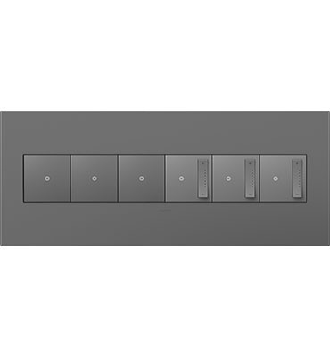 adorne 6-Gang Magnesium Wall Plate