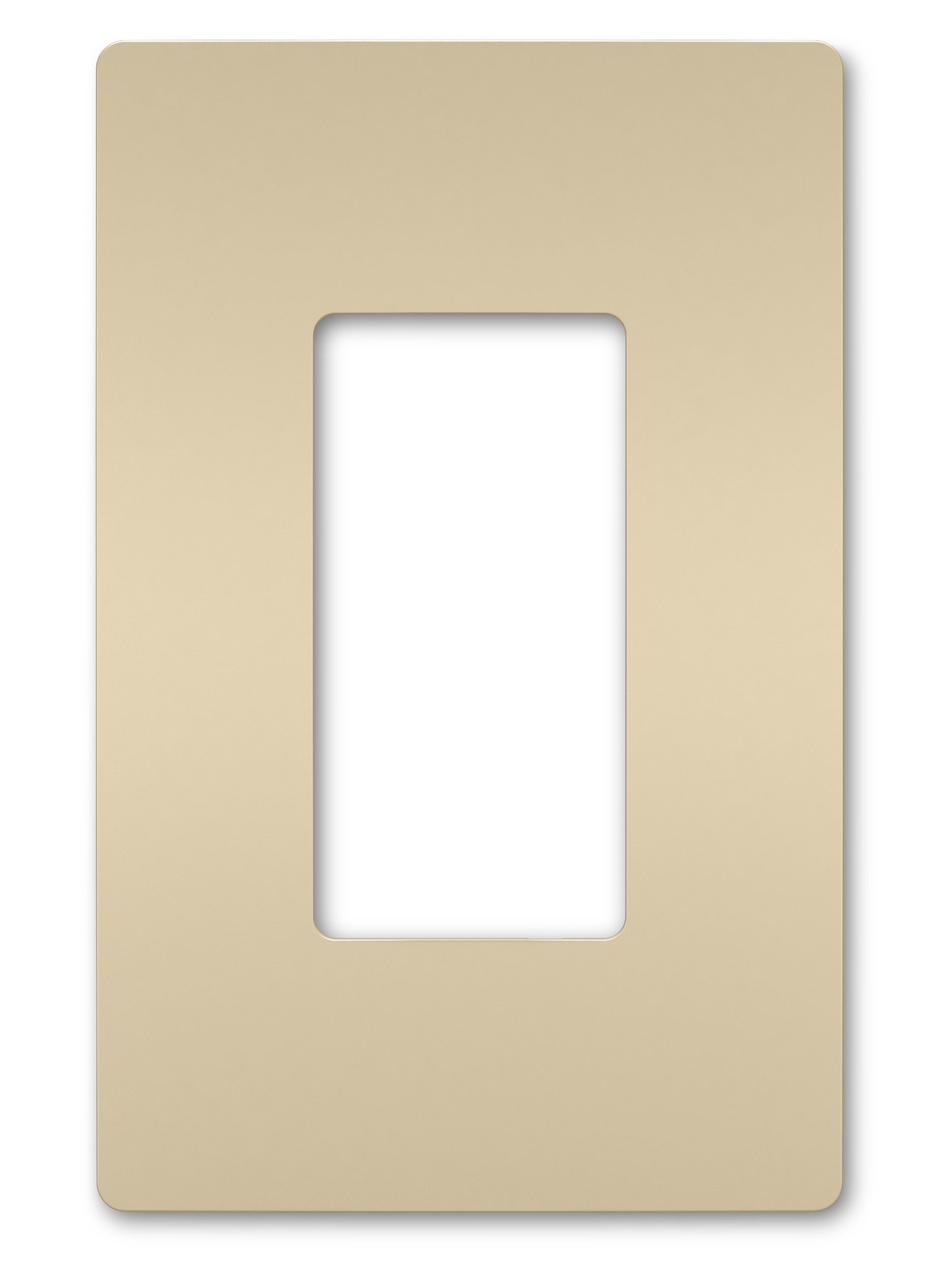 One-Gang Screwless Wall Plate, Ivory