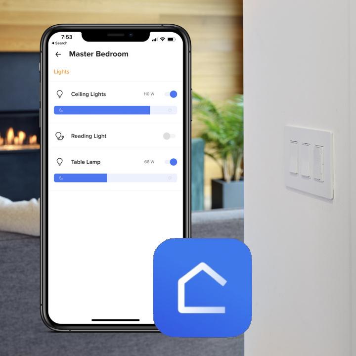 Netatmo phone app on smart phone