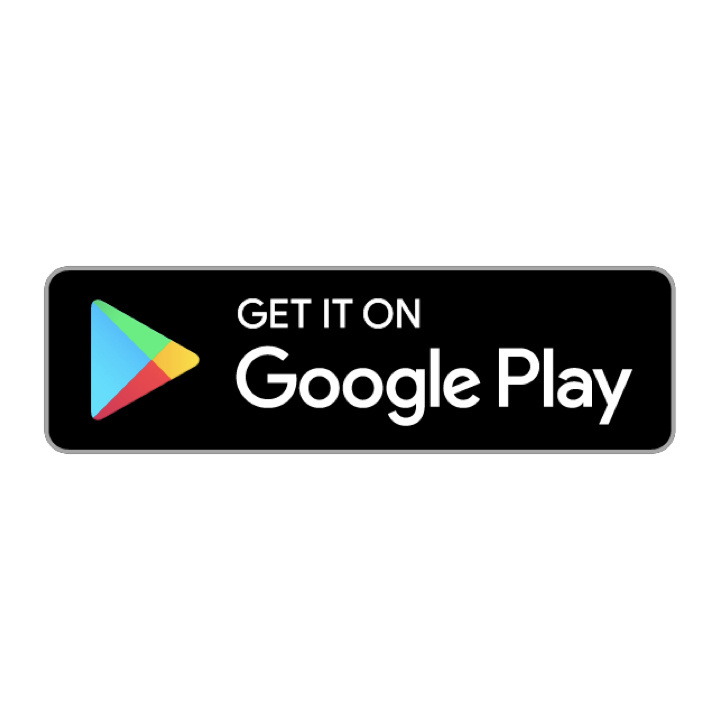 """Black box with multicolor play button with white text reading """"Get it on Google Play"""""""