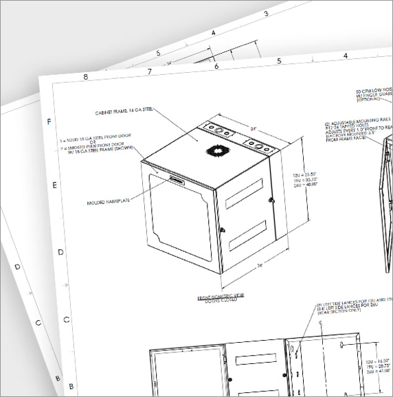 data center cabinet drawings from legrand