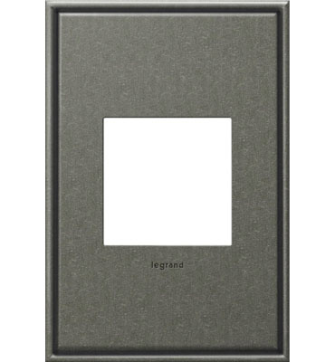 adorne 1-Gang Brushed Pewter Wall Plate