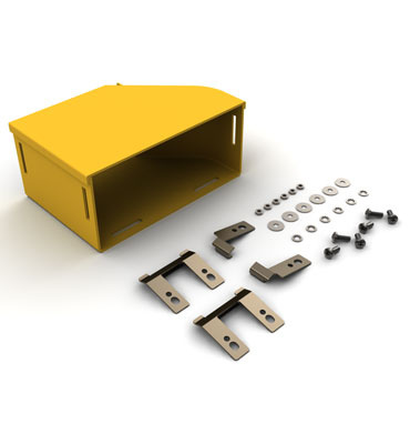 "Mighty Mo Fiber Raceway, Adapter Kit left hand, 8"" x 4"" to panduit 6"", yellow - OR-MMFAKL8X4PAN6-Y"
