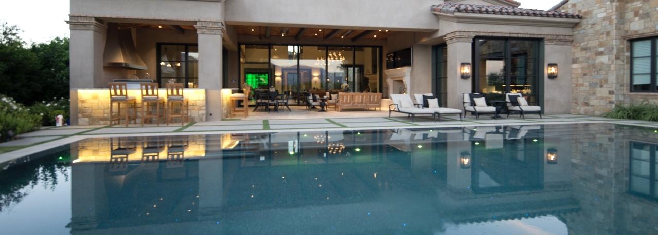 high-end backyard pool