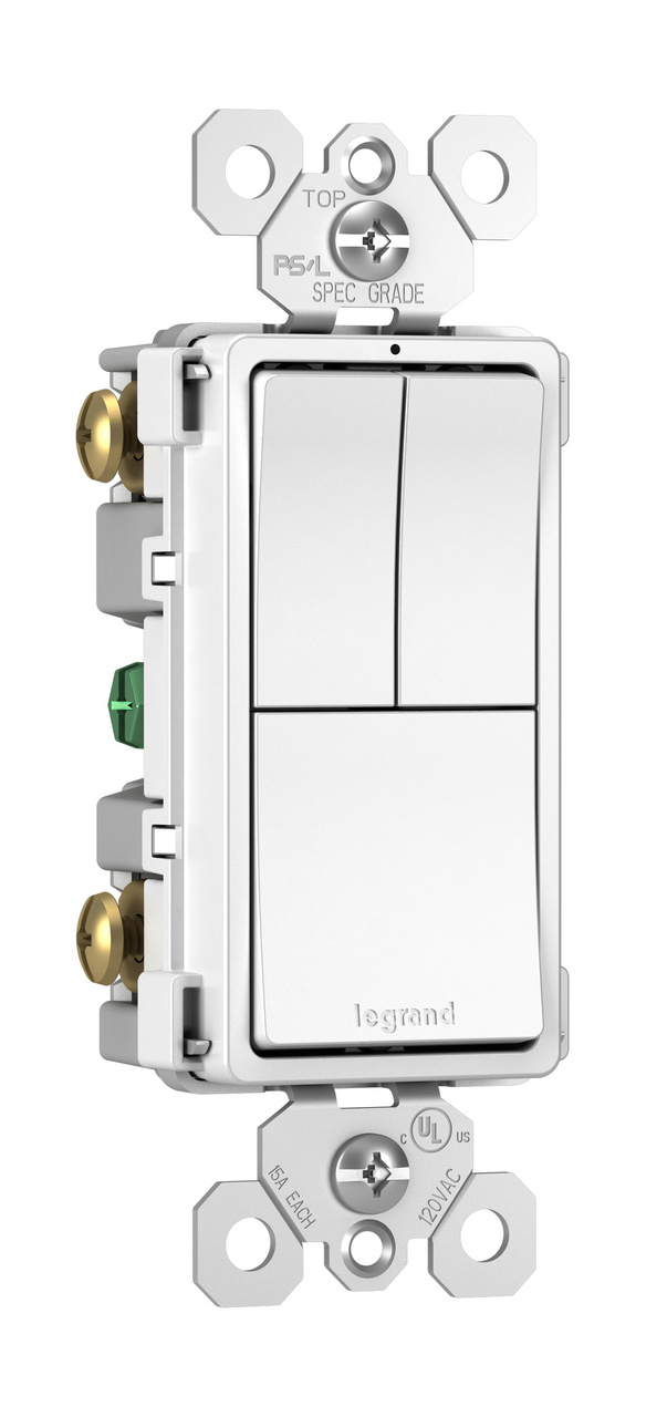 Radiant Rcd113w Combo Switch White Legrand