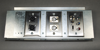 Bracket loaded with Standard Size Wall Plates Single Gang