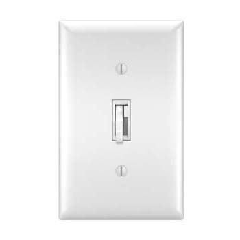Toggle Slide Dimmer CFL/LED, Single Pole / 3-Way 300W, White