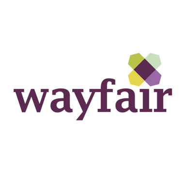 wayfair.com logo with purple text