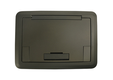 Surface Style Cover With Solid Lid Bronze Powder Coated Finish, EFB45BTCBZ