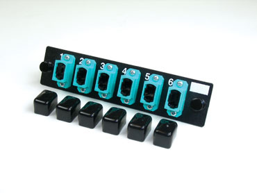 6-MPO (72 fibers) multimode aqua feed-through adapters, type A, OR-OFP-MPA72LA