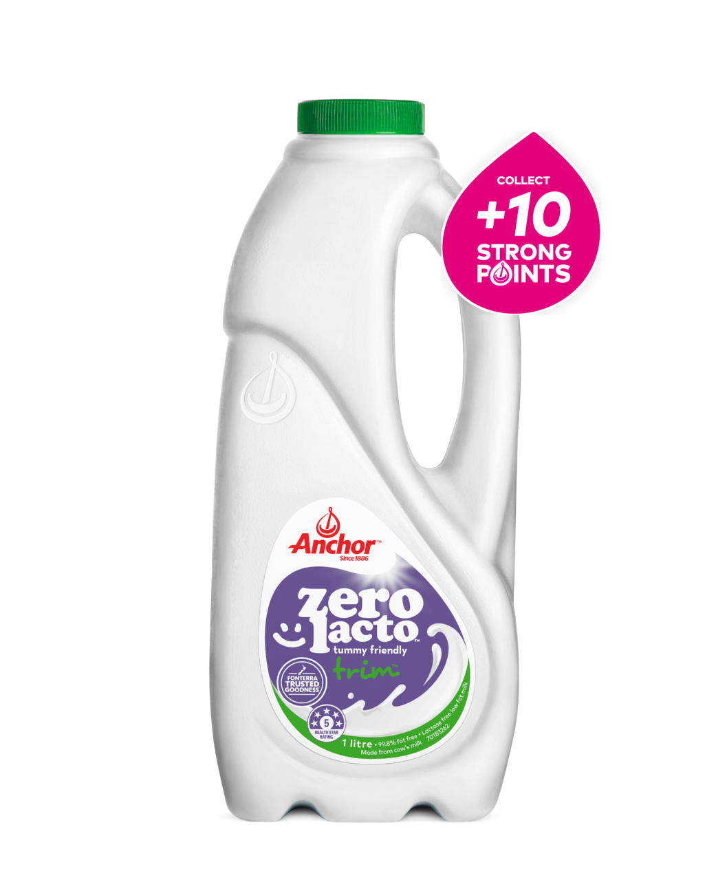 Anchor Zero Lacto Trim Milk 1L bottle