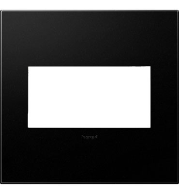 adorne 2-Gang Graphite Wall Plate