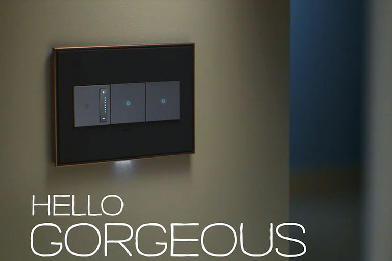 adorne switches and nightlight featured in TV commercial