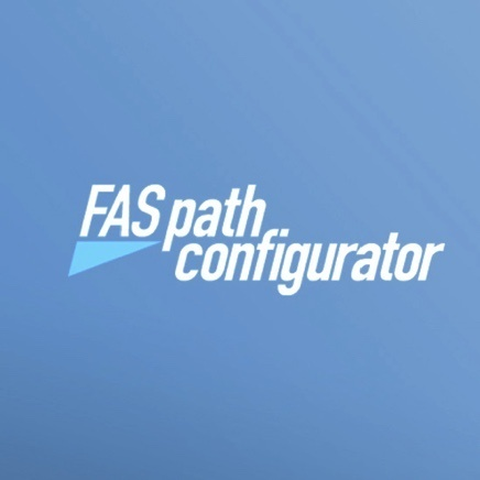 Blue background with FASpath configurator text logo
